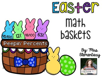 Easter Math Baskets - Peepin' Percents