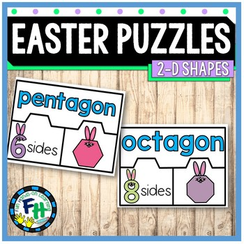 Easter Math Center {2-D Shape Puzzles}
