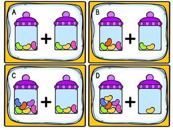 Easter Math Center - Jelly Bean Addition