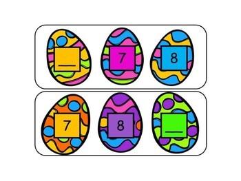 Easter Math Center - Missing Number 0-30