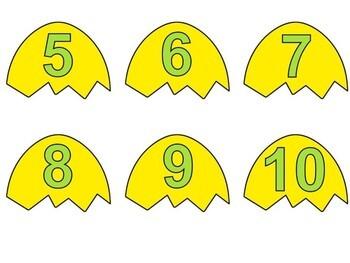 Easter Math Center - Number Word Match 0-10