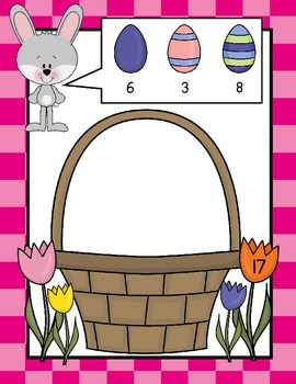 Easter - Math Center - Numbers 1 to 10 - Game