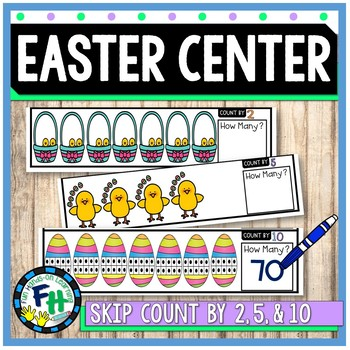 Easter Math Center {Skip Counting 2s, 5s, 10s}
