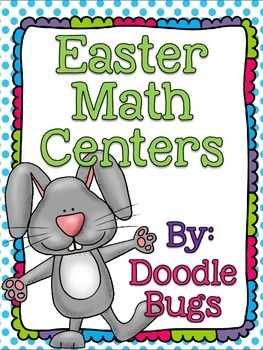 Easter Math Centers {16 different activities included}