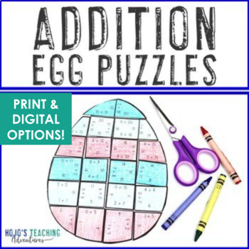 Easter Math Centers: Addition Egg Puzzles