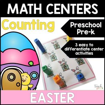 Easter Math Centers: Counting for Preschool, PreK, K & Homeschool