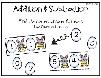 Easter Math Centers {FREEBIE!}