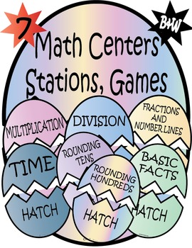 3rd Grade Math Centers - Easter Math Activity