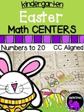 Easter Math Centers for Kindergarten - Numbers to 20
