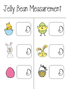 Easter Math Centers (measurement, time, fractions...)