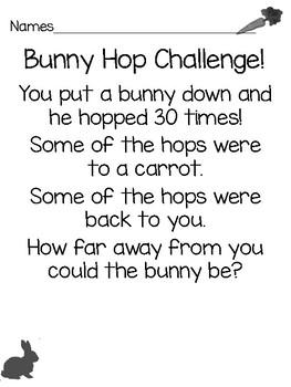 Easter Math Challenge with BONUS Word Problems!