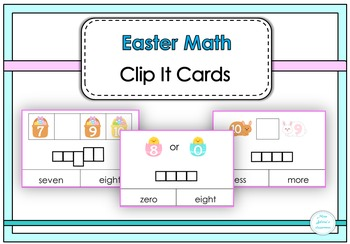 Easter Math Clip It Cards