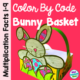 Easter Math - Color By Code Easter Basket - Multiplication Facts
