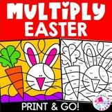 Easter Math Color by Number Multiplication Set