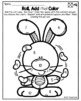 Easter Math Activities Addition Coloring Worksheets
