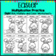 Easter Multiplication Coloring Worksheets Roll Solve and Color