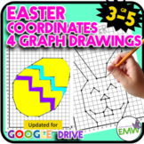 Easter Math Activity Coordinate Graph Drawings Print and Google