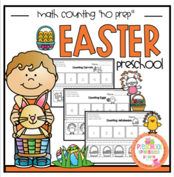 "Easter Math Counting ""No Prep"""