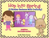 Easter Math Craftivity: Addition and Subtraction