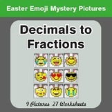 Easter Math: Decimals To Fractions - Color-By-Number Myste
