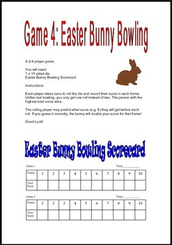 Easter Math Dice Games 1st 2nd