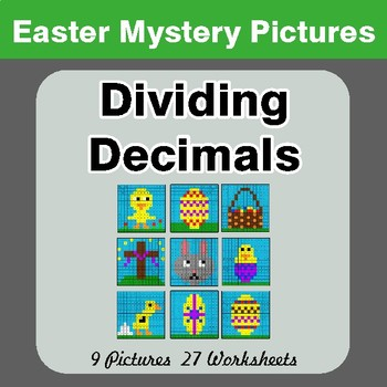 Easter Math: Dividing Decimals - Color-By-Number Math Mystery Pictures