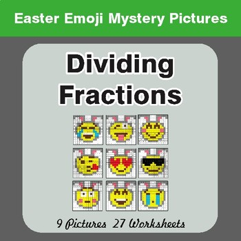 Easter Math: Dividing Fractions - Color-By-Number Math Mystery Pictures