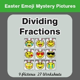 Easter Math: Dividing Fractions - Color-By-Number Mystery