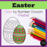 Easter Math Color by Number Division