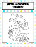 Easter Math Drills Addition, Subtraction, Doubles, Single Digit, Colouring Page