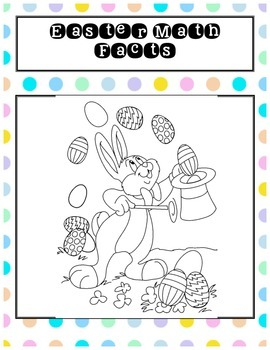 Easter Math Drills Addition Subtraction Doubles Single Digit Colouring Page