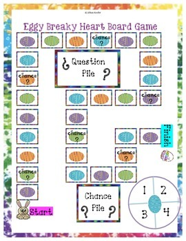 "Easter Math: ""Eggy"" Breaky Heart Board Game (Multiplication/Division)"