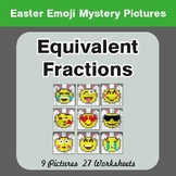 Easter Math: Equivalent Fractions - Color-By-Number Myster