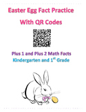 Easter Math Facts with QR Codes +1, +2