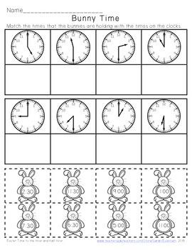 Easter Math - First Grade Skills