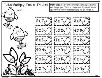 Easter Math For Big Kids: Multiplication Practice