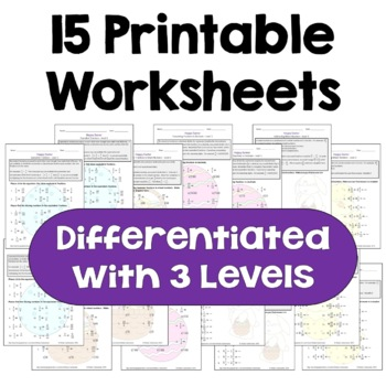 Easter Fraction Worksheet Bundle (Differentiated with 3 Levels)