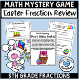 Easter Math Fractions Game Easter Math Mystery 5th Grade