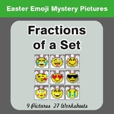 Easter Math: Fractions of a Set - Color-By-Number Mystery
