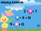 Easter Math Fun – A Review of Addition and Subtraction
