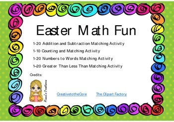 Easter Math Fun (PreK/K)
