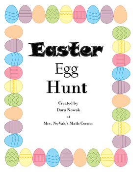 Easter Math Mixed Number Game