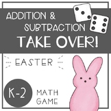 Easter Math Game - Addition and Subtraction TAKE OVER! - EDITABLE