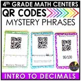 Easter Math Game | Decimals QR Codes Game | Intro to Decimals Math Activities