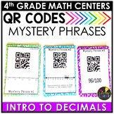 Easter Math Game - Decimals QR Codes Game- Intro to Decima