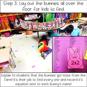 Easter Math Game - Easter Multiplication Fact Scavenger Hunt
