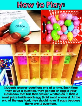 Third Grade Math Review - Easter Egg Hunt