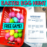 Easter Math Game - Third Grade Math Review - Easter Egg Hunt