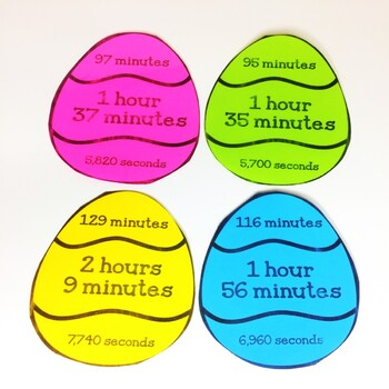 Easter Math Game - Time Conversions Math Activity