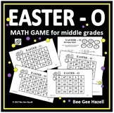 Easter Math Game for Middle Grades (EASTER-O)